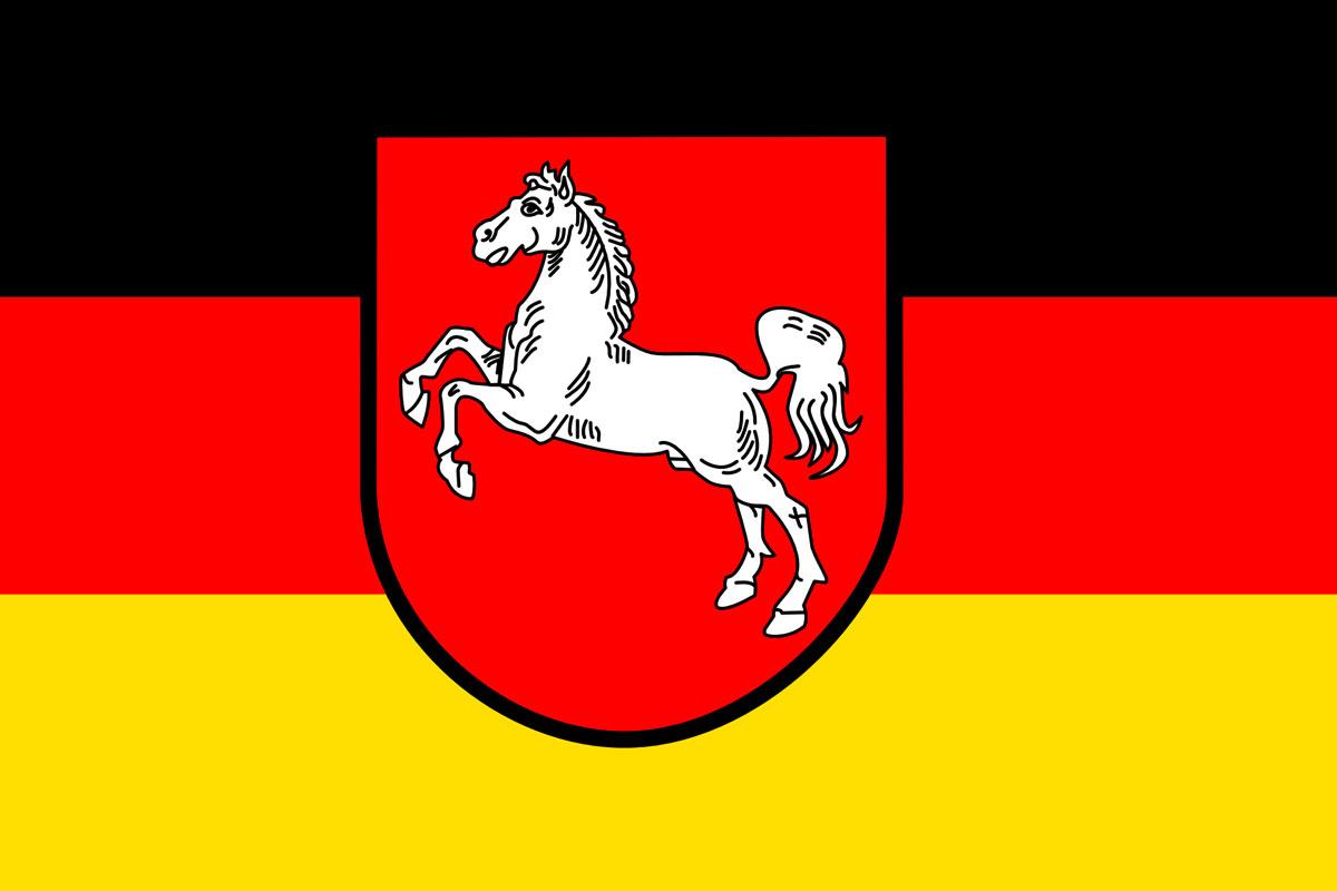 Bundesland Niedersachsen Flagge