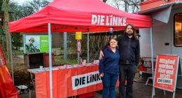 DIE LINKE Infostand Hude Wochenmarkt Dezember 2019