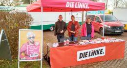 DIE-LINKE-Welt-AIDS-Tag-Infostand-Hude-2018