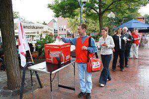 Flashmob zum Mindestlohn