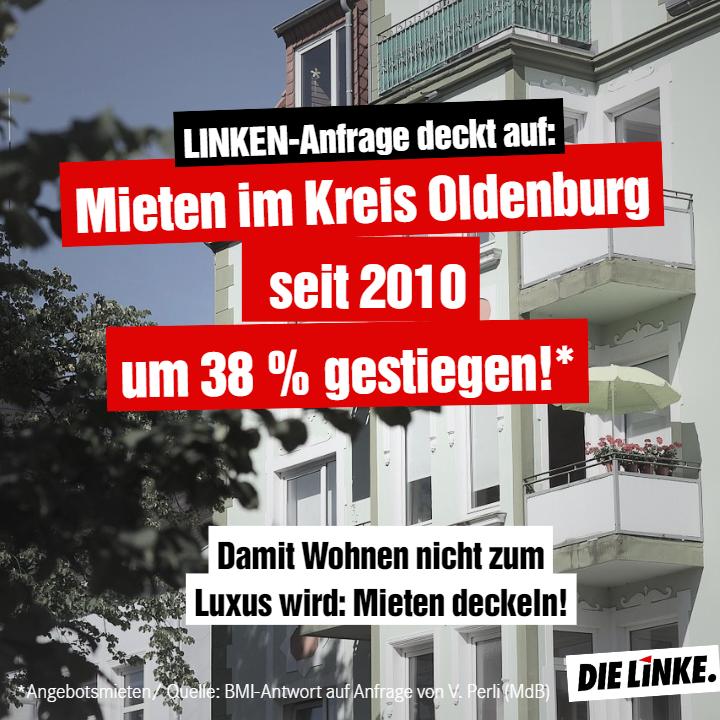 Mieten Landkreis Oldenburg gestiegen
